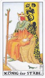 Der König der Stäbe, Tarotkarte des Monats
