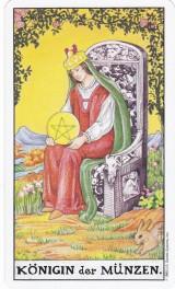 Königin der Münzen, Tarot, Astrologie, Yshouk Ursula Kirsch
