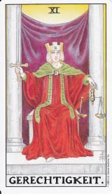 Gerechtigkeit, Tarotkarte, Große Arkana