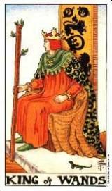 König der Stäbe, Tarot, Psychologische Beratung, Traumarbeit, Astrologie, Kartenlegen, Yshouk Ursula Kirsch