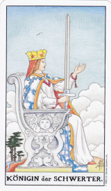 Königin der Schwerter, Tarot, Hofkarte