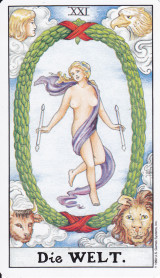 Die Welt, Tarot, Große Arkana, Zentrum des Seins