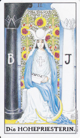 Newsletter April 2017, die Hohepriesterin, Tarot, Astrologie